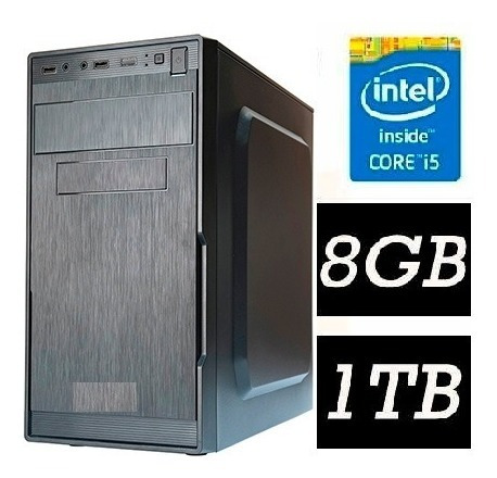 Pc Cpu Intel Core I5 + 8gb+ 1tb + Teclado, Mouse E Cabo - Pronta Entrega Com Garantia