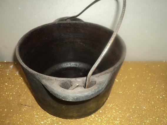 Panela Ferro Antiga /ou Caldeirao /c/alça /panela Long/23/15