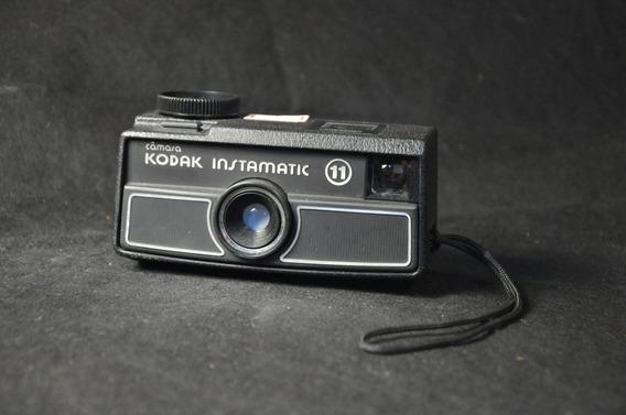 Câmera Fotográfica Kodak Instamatic 11 Antiga Usada