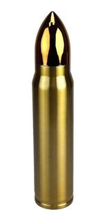 Garrafa Termica Bullet Munição Bala Projétil Inox