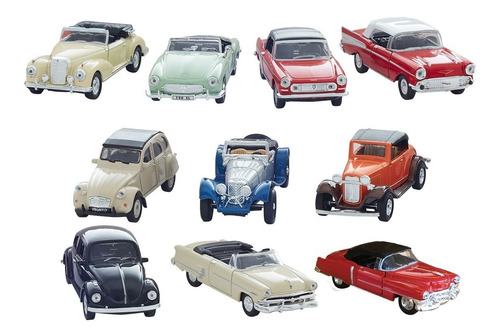 Clarín Colección Autos Clásicos Set 4 De 10 Autos