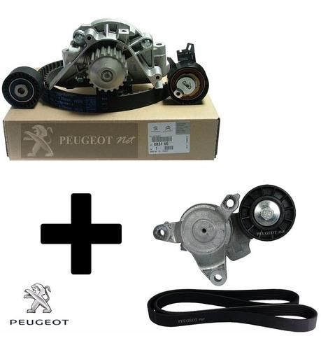 Kit Distribucion + Kit Poly V Original P/ Peugeot 408 2.0