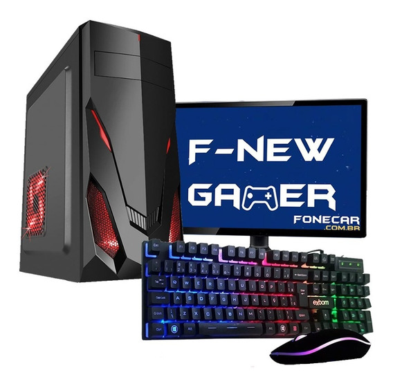 Pc Gamer Completo I5 8gb 1tb Monitor Placa De Video Gt 1030