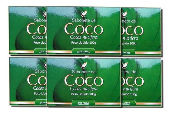Kit Com 6 Sabonetes De Coco Nucifera 100g - Arte Nativa