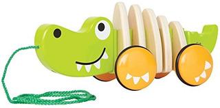 Hape Walkalong Croc Todoterreno De Madera Con Juguete