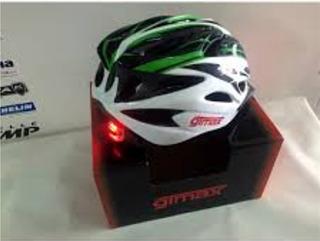 Capacete Ciclismo Gtmax Sinalizado Branco/verde Tam M