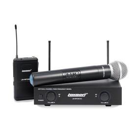 Kit Microfone Sem Fio Lexsen Lm-wf58 Bivolt Uhf Lapela E He
