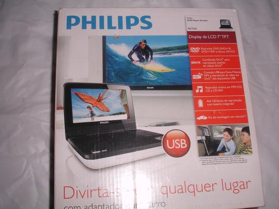 Dvd Portatil Philips Pd7030 9 Pulgadas Lcd + Estuche