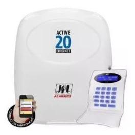 Central De Alarme Monitorada Jfl Active 20 Ethernet Teclado