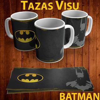 Taza Personalizada Silueta Y Logo De Batman
