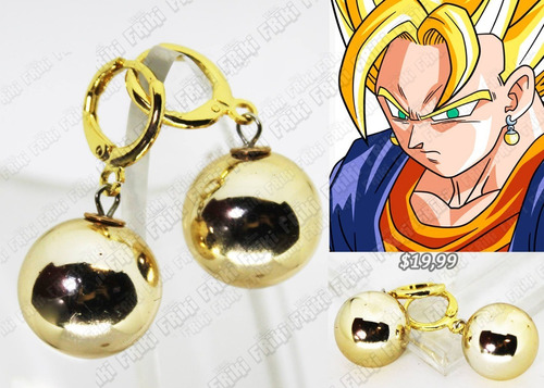 Imagen 1 de 5 de Aretes Anime Dragon Ball Pohtara (tienda Friki)