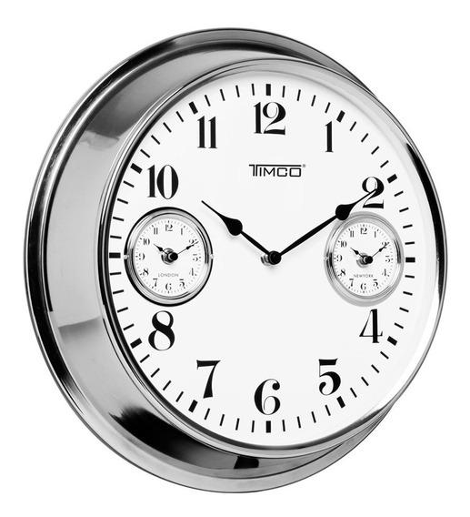 Reloj De Pared 3 Horarios Diferentes 40.5 Cm Hywi120