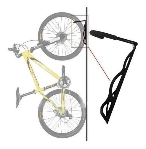Imagen 1 de 5 de Soporte Bicicleta P/pared Acero Reforzado Gancho Bici