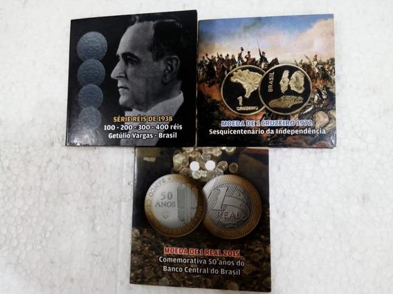 Moedas De 1938 Getúlio Vargas E Outras E 6 Cédulas Venezuela