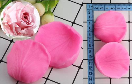 Molde Silicón Flores Fondant/ Resina/ Petálo De Rosa Abierta