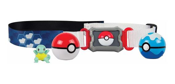 Conjunto De Ação - Pokémon - Cinto Porta Pokébolas - Squirtl