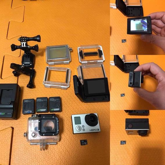 Gopro Hero3 +tela Lcd+3 Baterias +micro Sd 64 Mb+ Capas