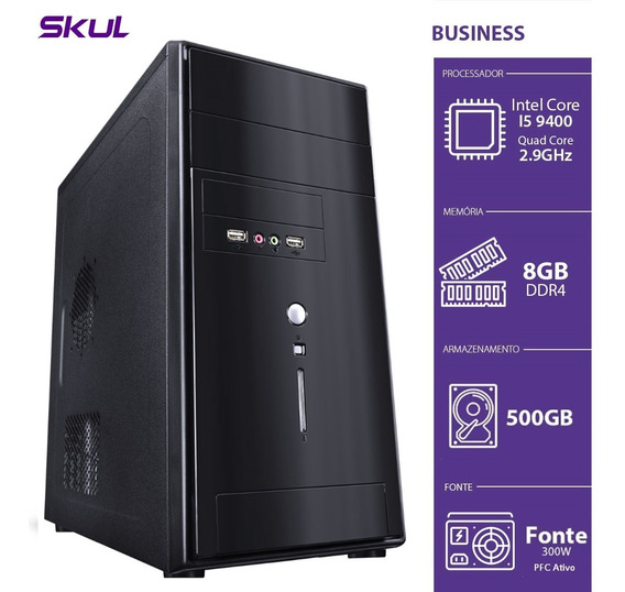 Computador Business B500 - I5-9400 2.9ghz 8gb Ddr4 Hd 500gb