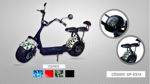 Scooter Elétrica Sp-es14 Assento Duplo