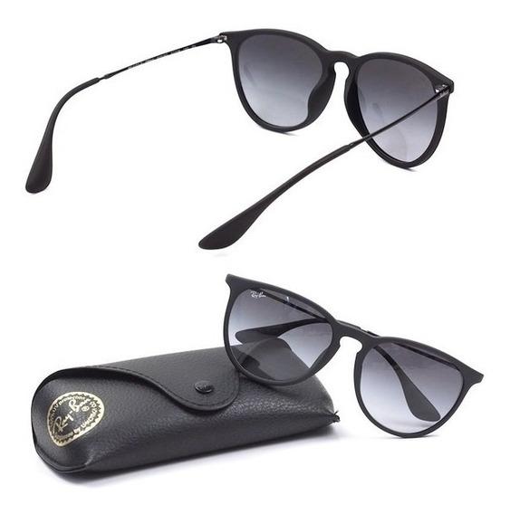Óculos Sol Ray-ban Erika Preto Masculino Feminino Original
