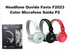 Fone Ouvido P2 Favix F2023 Color Com Microfone- Barato