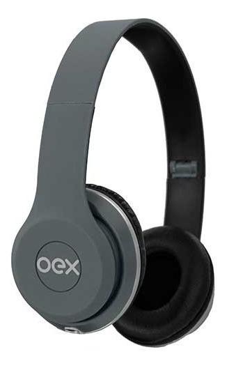Fone Headphone Style Dobravel Microfone Cinza Hp103 Oex
