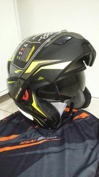 Capacete Robocop Com Óculos Pro Tork Attack Tam 60 Amarelo