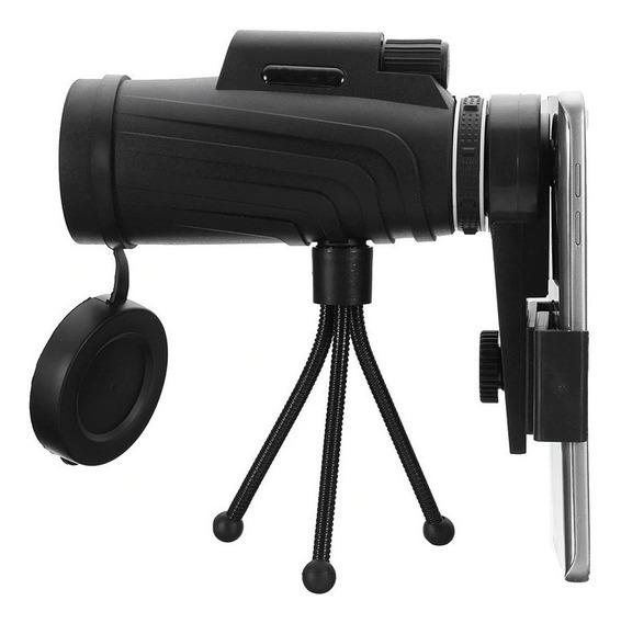 Telescópio Luneta Portátil 40x60 + Tripé + Suporte Celular
