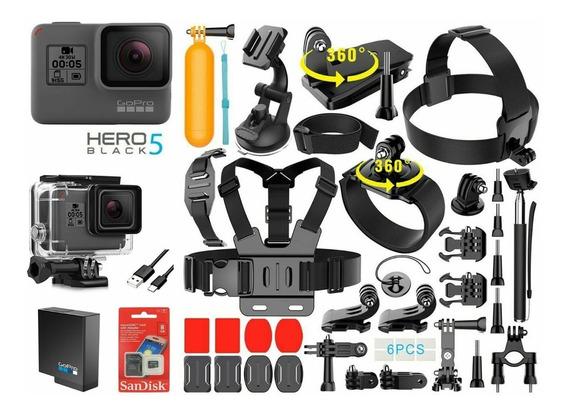 Gopro Hero 5 Edicion Black + 40 Accesorios Por Cuotas
