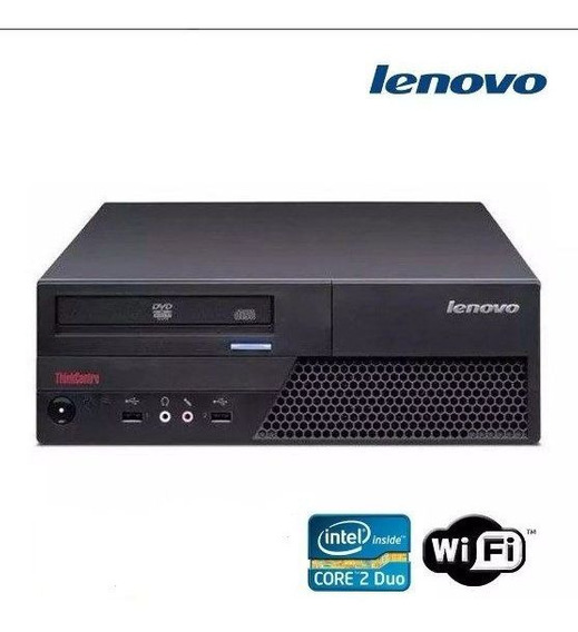 Cpu Desktop Lenovo Core 2 Duo 2gb Ddr3 Hd 160gb Dvd Wifi