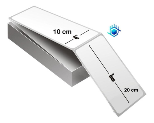 12 X 500 Etiquetas Guias 4x8 Fanfold Abanico Termica Directa