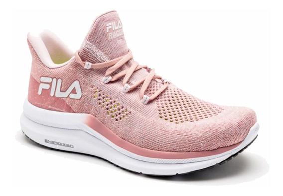 Tenis Fila Racer Knit Energized Feminino Running Rose