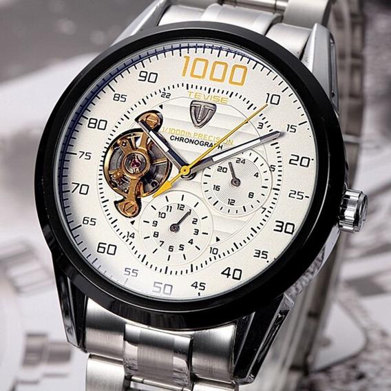 Relógio Automático Tevise Sport Cronos Pronta Entrega Oferta