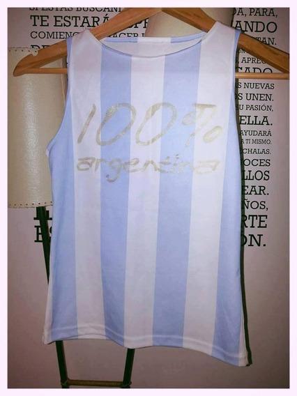 Musculosa Camiseta Argentina Talle 1 - 2