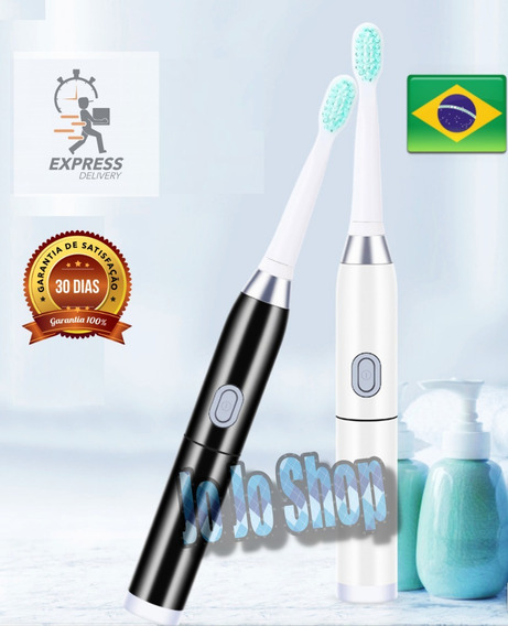 Escova Dental Elétrica Premium Base Bateria Sonic P/ent