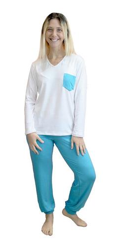 Imagen 1 de 9 de Pijama De Mujer Invierno De Modal Art 650