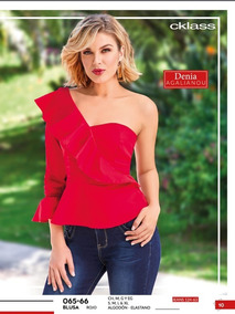 Blusa Roja Dama Cklass 065-66 Pv-2019 Oferta