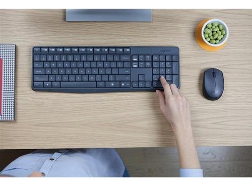 Teclado + Mouse Logitech Mk235 Wireless Usb Negro | Mercado Libre