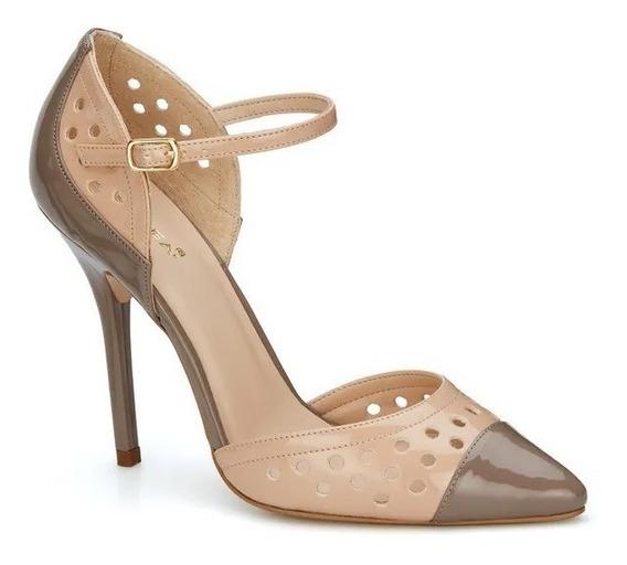 Zapatillas Andrea Negro Beige 2542508 & Rosa Gris 254276 710