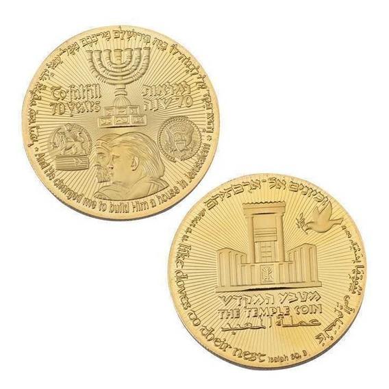 Moeda Templo Rei Cyrus Judaica Israel Jerusalém E Trump