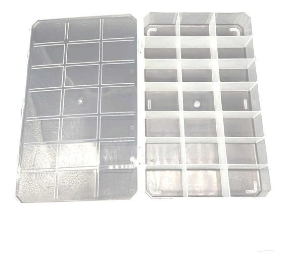 Organizadora Com 21 Divisórias - Caixa Plástica Transparente