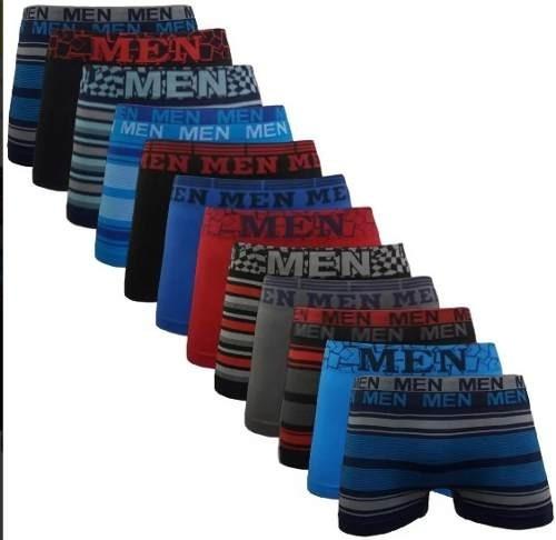 Kit 12 Cuecas Box Men Revenda - Barato Bom Promoção