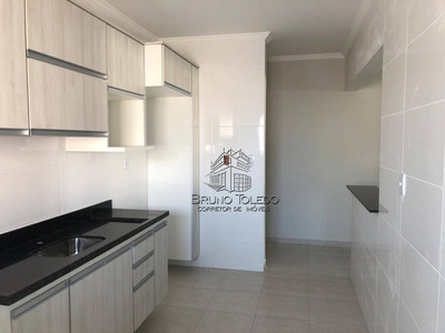 Apartamento Com 2 Dormitórios Para Alugar, 74 M² Por R$ 1.800/mês - Campo Da Aviação - Praia Grande/sp - Ap0102