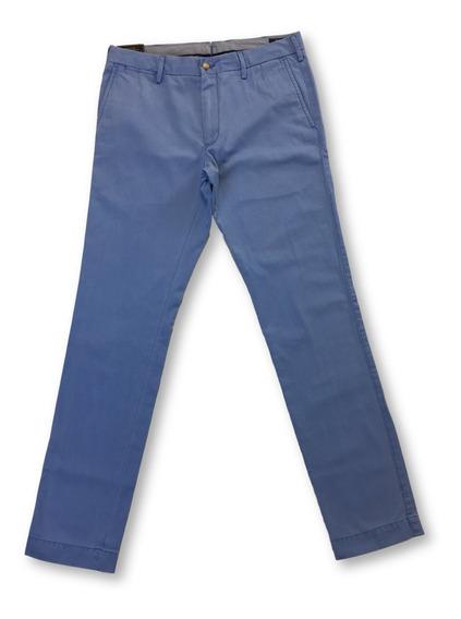 Ralph Lauren Polo Slim Fit Pima Algodón Chinos En Azul Mari