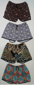 Kit 3 Shorts Feminino Plus Size Estampado Roupa Verão Lindos