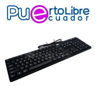 Hp P O T E N T E Teclado Usb - Dell Lenovo Acer Asus Pc !!!