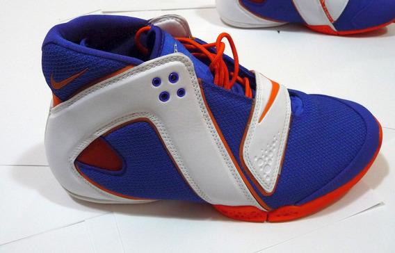 Tenis Nike Luz Azul Laranja Veio Dos Eua Original Masculino