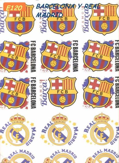 Calco Vitrificable Barcelona - Real Madrid