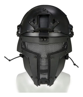 Máscara Careta Para Casco Airsoft, Gotcha De Espartano