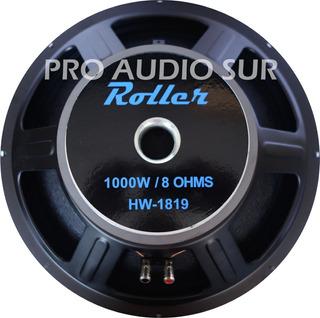 Subwoofer Roller 18 Pulgadas 1000 Watts Parlante Hw1819